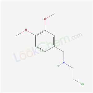 Molecular Structure of 15257-69-9 (2-chloro-N-[(3,4-dimethoxyphenyl)methyl]ethanamine)
