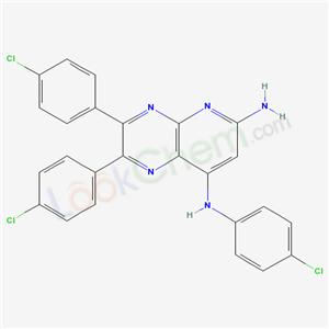 19270-43-0,N,3,4-tris(4-chlorophenyl)-2,5,10-triazabicyclo[4.4.0]deca-2,4,7,9,11-pentaene-7,9-diamine,
