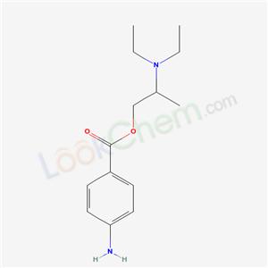 21500-84-5,2-diethylaminopropyl 4-aminobenzoate,
