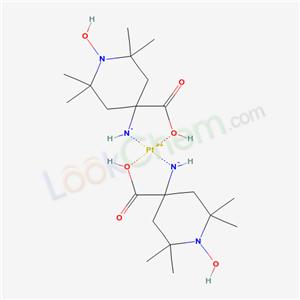 42735-79-5,(4-carboxy-1-hydroxy-2,2,6,6-tetramethyl-4-piperidyl)azanide; platinum(+2) cation,