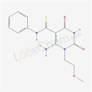 60663-70-9,6-amino-1-(2-methoxyethyl)-2,4-dioxo-N-phenyl-pyrimidine-5-carbothioamide,
