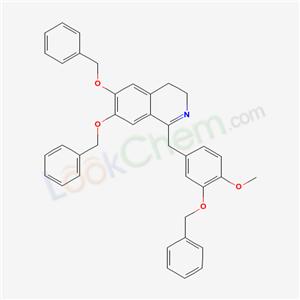 13233-01-7,1-[(4-methoxy-3-phenylmethoxy-phenyl)methyl]-6,7-bis(phenylmethoxy)-3,4-dihydroisoquinoline,