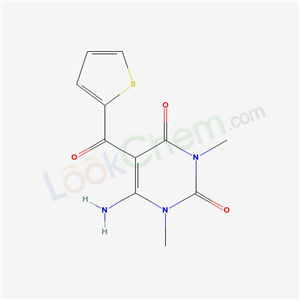61317-75-7,6-amino-1,3-dimethyl-5-(thiophene-2-carbonyl)pyrimidine-2,4-dione,