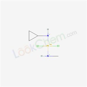 94157-20-7,Platinum, dichloro(cyclopropanamine)(methanamine)-, (SP-4-3)-,
