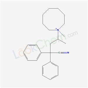 7468-05-5,4-(1-methyl-1-azoniacyclooct-1-yl)-2,2-diphenyl-pentanenitrile,