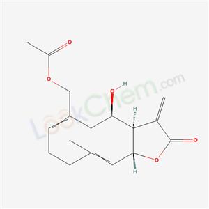 50886-56-1,Cyclodeca[b]furan-2(3H)-one,6-[(acetyloxy)- methyl]-3a,4,5,8,9,11a-hexahydro-4-hydroxy- 10-methyl-3-methylene-,(3aR,4R,6Z,10E,- 11aR)- ,
