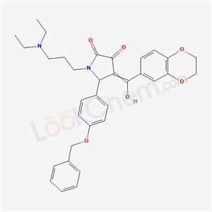 7037-59-4,1-(3-diethylaminopropyl)-4-(7,10-dioxabicyclo[4.4.0]deca-2,4,11-trien-3-yl-hydroxy-methylidene)-5-(4-phenylmethoxyphenyl)pyrrolidine-2,3-dione,