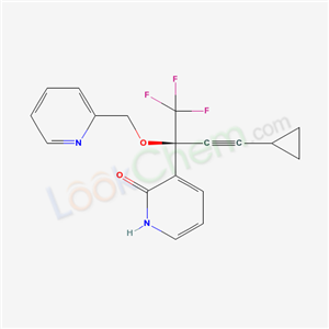 335665-54-8,3-[(2R)-4-cyclopropyl-1,1,1-trifluoro-2-(pyridin-2-ylmethoxy)but-3-yn-2-yl]-1H-pyridin-2-one,