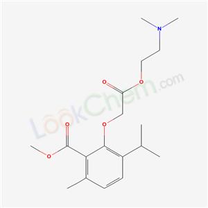 52073-09-3,ACETIC ACID, (6-ISOPROPYL-2-METHOXYCARBONYL-3-METHYLPHENOXY)-, 2-(DIMETHYLAMINO),