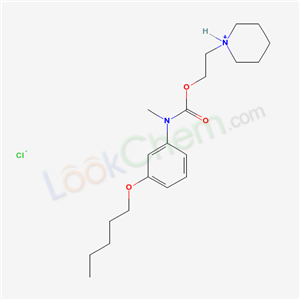 52224-29-0,N-Methyl-m-(pentyloxy)carbanilic acid 2-piperidinoethyl ester monohydrochloride,