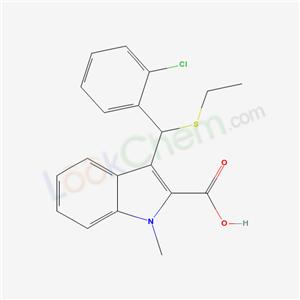 56297-58-6,3-[(2-chlorophenyl)-ethylsulfanyl-methyl]-1-methyl-indole-2-carboxylic acid,