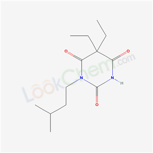 66940-87-2,5,5-diethyl-1-(3-methylbutyl)-1,3-diazinane-2,4,6-trione,5,5-Diaethyl-1-isopentyl-barbitursaeure;5,5-diethyl-1-isopentyl-barbituric acid;BARBITURIC ACID,5,5-DIETHYL-1-ISOPENTYL;5,5-diethyl-1-(3-methylbutyl)pyrimidine-2,4,6(1H,3H,5H)-trione;