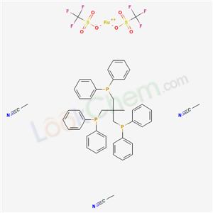 Molecular Structure of 103500-16-9 ((Ru(MeCN)3(PPP))(OTf)2)