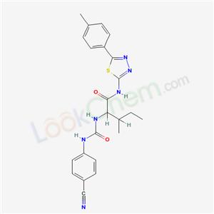 5984-44-1,2-[(4-cyanophenyl)carbamoylamino]-3-methyl-N-[5-(4-methylphenyl)-1,3,4-thiadiazol-2-yl]pentanamide,