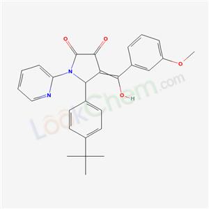 4858-89-3,4-[hydroxy-(3-methoxyphenyl)methylidene]-1-pyridin-2-yl-5-(4-tert-butylphenyl)pyrrolidine-2,3-dione,