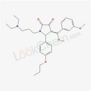 7017-60-9,1-(3-diethylaminopropyl)-4-[hydroxy-(3-methoxyphenyl)methylidene]-5-(4-propoxyphenyl)pyrrolidine-2,3-dione,