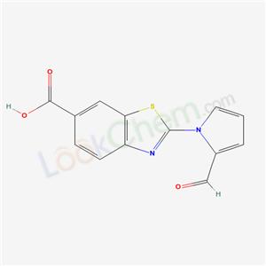 4978-08-9,2-(2-formylpyrrol-1-yl)benzothiazole-6-carboxylic acid,