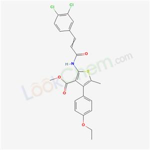 6893-11-4,methyl 2-[3-(3,4-dichlorophenyl)prop-2-enoylamino]-4-(4-ethoxyphenyl)-5-methyl-thiophene-3-carboxylate,