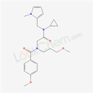 5952-87-4,N-[[cyclopropyl-[(1-methylpyrrol-2-yl)methyl]carbamoyl]methyl]-4-methoxy-N-(3-methoxypropyl)benzamide,