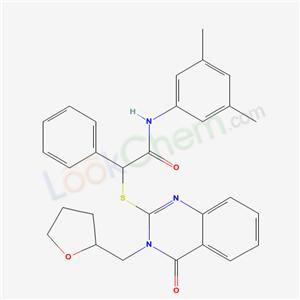 5714-37-4,N-(3,5-dimethylphenyl)-2-[4-oxo-3-(oxolan-2-ylmethyl)quinazolin-2-yl]sulfanyl-2-phenyl-acetamide,