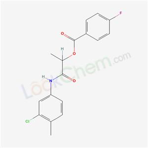 6898-59-5,1-[(3-chloro-4-methyl-phenyl)carbamoyl]ethyl 4-fluorobenzoate,