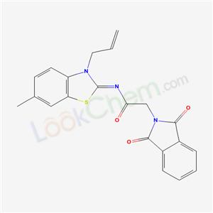 6273-70-7,2-(1,3-dioxoisoindol-2-yl)-N-(6-methyl-3-prop-2-enyl-benzothiazol-2-ylidene)acetamide,