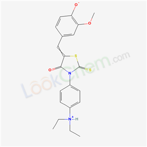 5674-66-8,4-[[3-(4-diethylammoniophenyl)-4-oxo-2-sulfanylidene-thiazolidin-5-ylidene]methyl]-2-methoxy-phenolate,