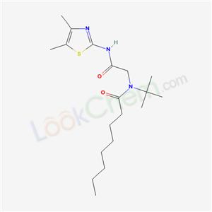 6007-39-2,N-[(4,5-dimethyl-1,3-thiazol-2-yl)carbamoylmethyl]-N-tert-butyl-octanamide,