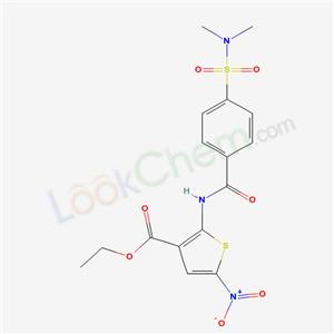 6192-49-0,ethyl 2-[[4-(dimethylsulfamoyl)benzoyl]amino]-5-nitro-thiophene-3-carboxylate,