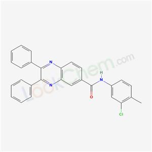 7047-04-3,N-(3-chloro-4-methyl-phenyl)-2,3-diphenyl-quinoxaline-6-carboxamide,