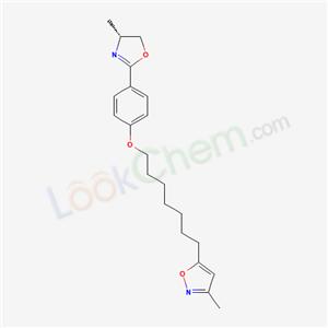 98524-87-9,Isoxazole, 5-[7-[4-[(4R)-4,5-dihydro-4-methyl-2-oxazolyl]phenoxy]heptyl]-3-methyl-,