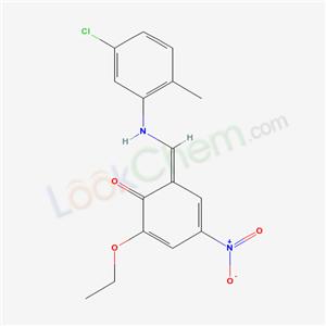 5304-15-4,(6Z)-6-[[(5-chloro-2-methyl-phenyl)amino]methylidene]-2-ethoxy-4-nitro-cyclohexa-2,4-dien-1-one,