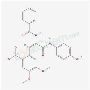 5679-41-4,N-[(E)-2-(4,5-dimethoxy-2-nitro-phenyl)-1-[(4-hydroxyphenyl)carbamoyl]ethenyl]benzamide,