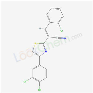 5212-27-1,(E)-3-(2-chlorophenyl)-2-[4-(3,4-dichlorophenyl)-1,3-thiazol-2-yl]prop-2-enenitrile,