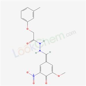 5470-16-6,N-[(E)-(3-methoxy-5-nitro-4-oxo-1-cyclohexa-2,5-dienylidene)methyl]-2-(3-methylphenoxy)acetohydrazide,