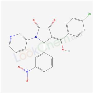 5957-30-2,(4E)-4-[(4-chlorophenyl)-hydroxy-methylidene]-5-(3-nitrophenyl)-1-pyridin-3-yl-pyrrolidine-2,3-dione,