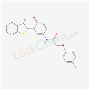 6024-16-4,N-[(3E)-3-(3H-benzothiazol-2-ylidene)-4-oxo-1-cyclohexa-1,5-dienyl]-2-(4-ethylphenoxy)acetamide,