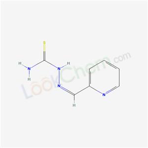 61043-10-5,Hydrazinecarbothioamide, 2-(2-pyridinylmethylene)-, (E)-,