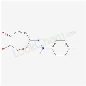 19281-39-1,4-[(4-methylphenyl)hydrazinylidene]cyclohepta-2,5-diene-1,7-dione,