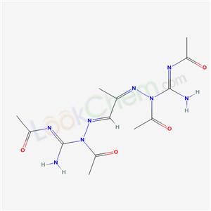 868-35-9,N-[[(1E)-1-[acetyl-(N-acetylcarbamimidoyl)hydrazinylidene]propan-2-ylidene]amino]-N-(N-acetylcarbamimidoyl)acetamide,