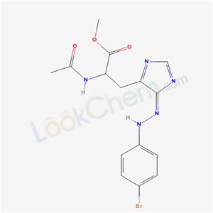 39037-16-6,methyl 2-acetamido-3-[(5E)-5-[(4-bromophenyl)hydrazinylidene]imidazol-4-yl]propanoate,