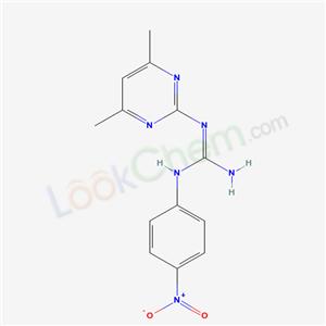 Molecular Structure of 4323-53-9 (1-(4,6-Dimethyl-2-pyrimidinyl)-3-p-nitrophenylguanidine)