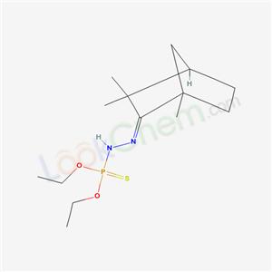 33303-52-5,(2Z)-2-(diethoxyphosphinothioylhydrazinylidene)-1,3,3-trimethyl-norbornane,
