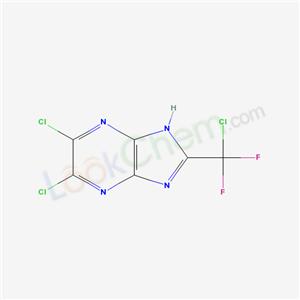 58885-09-9,3,4-dichloro-8-(chloro-difluoro-methyl)-2,5,7,9-tetrazabicyclo[4.3.0]nona-2,4,7,10-tetraene,