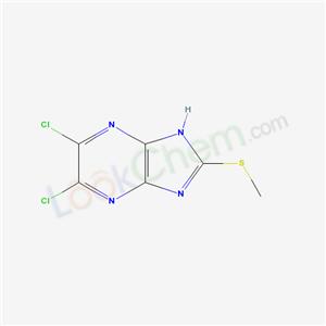 79100-24-6,3,4-Dichloro-8-methylsulfanyl-2,5,7,9-tetrazabicyclo[4.3.0]nona-2,4,7,10-tetraene,5,6-Dichloro-2-methylsulfanyl-1H-imidazo[4,5-b]pyrazine;