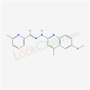 71508-86-6,6-methoxy-4-methyl-N-[(6-methylpyridin-2-yl)methylideneamino]quinolin-2-amine,