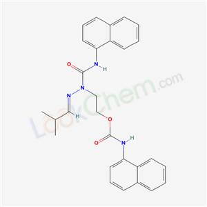 7595-94-0,2-[(2-methylpropylideneamino)-(naphthalen-1-ylcarbamoyl)amino]ethyl N-naphthalen-1-ylcarbamate,