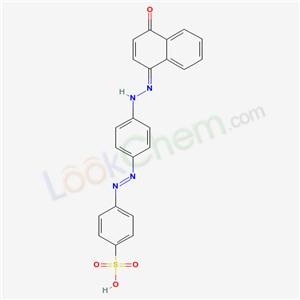 6949-02-6,4-[4-[(2Z)-2-(4-oxonaphthalen-1-ylidene)hydrazinyl]phenyl]diazenylbenzenesulfonic acid,