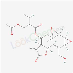 57498-88-1,2-Butenoic acid,2-[(acetyloxy)methyl]-,(1aR,- 1bS,2aS,3Z,4aR,7aR,8R,9aR)-1a,1b,2a,4a,6,7,- 7a,8,9,9a-decahydro-3-(hydroxymethyl)-9amethyl- 7-methylene-6-oxobisoxireno[5,6:7,8]- cyclodeca[1,2-b]furan-8-yl ester,(2Z)- ,