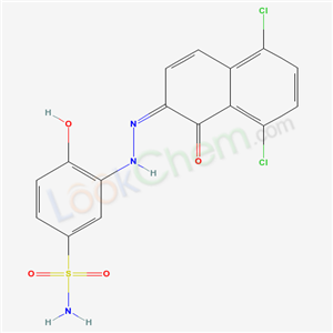 56961-50-3,3-((5,8-Dichloro-1-hydroxy-2-naphthyl)azo)-4-hydroxybenzenesulphonamide,